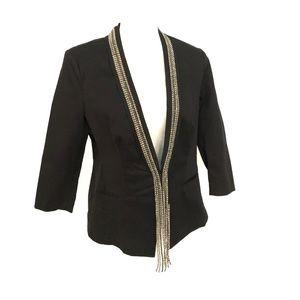 Rock and Republic Rhinestone tassel blazer